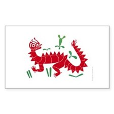 Moche Dragon Rectangle Decal