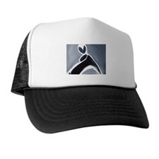study in black, white and gre Hat