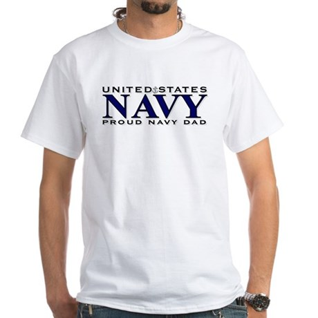 United States Navy, Proud Nav White T-Shirt