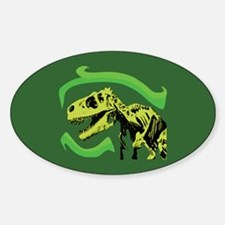 T-Rex Skeleton Oval Decal