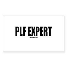 PLF EXPERT Rectangle Decal