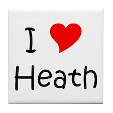 Cool Heath love Tile Coaster