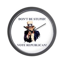 Don't Be Stupid Vote Republican Wall Clock