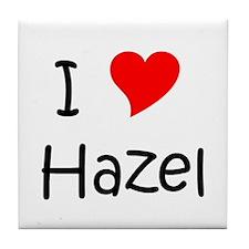 Cute I love hazel Tile Coaster
