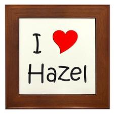 Cute Hazel Framed Tile