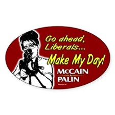 Make My Day McCain Palin Oval Decal