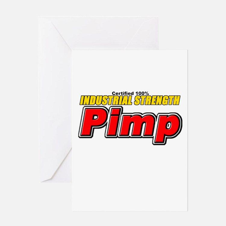 CERTIFIED Pimp Greeting Card