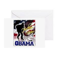 Hockey Mom for Obama Greeting Card