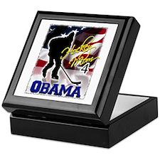 Hockey Mom for Obama Keepsake Box