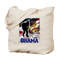 Hockey Mom for Obama Tote Bag