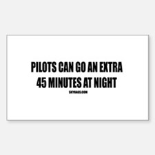 PILOTS CAN GO EXTRA 45 MIN Rectangle Decal