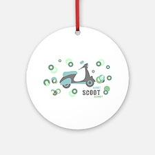 Retro Scooter Ornament (Round)