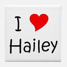 Cute Hailey Tile Coaster