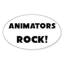 Animators ROCK Oval Decal