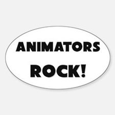 Animators ROCK Oval Decal