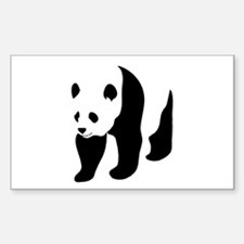 Giant Panda Bear Rectangle Decal