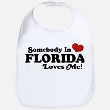 Somebody In Florida Loves Me Bib