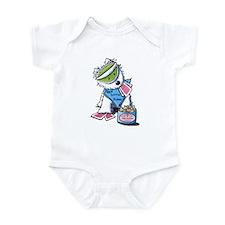 Poker Pup Westie Infant Bodysuit
