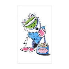 Poker Pup Westie Rectangle Sticker 10 pk)