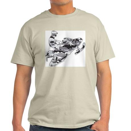 Camouflage Grey Snowmobiler Light T-Shirt
