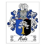 Madia Family Crest Small Poster