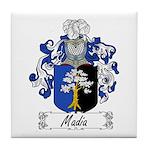 Madia Family Crest Tile Coaster