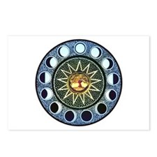 Moon Phases Mandala Postcards (Package of 8)