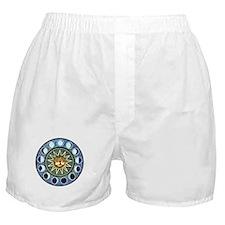 Moon Phases Mandala Boxer Shorts