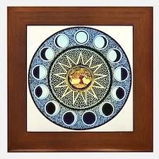 Moon Phases Mandala Framed Tile