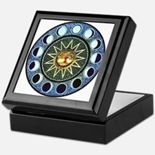 Moon Phases Mandala Keepsake Box