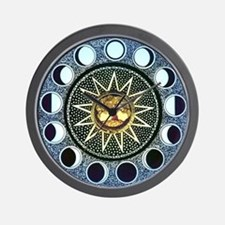 Moon Phases Mandala Wall Clock
