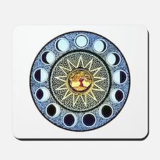 Moon Phases Mandala Mousepad