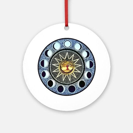 Moon Phases Mandala Ornament (Round)