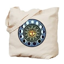 Moon Phases Mandala Tote Bag