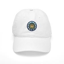 Moon Phases Mandala Baseball Cap