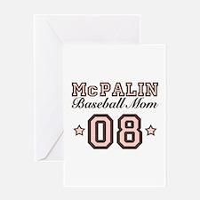 McPalin Baseball Mom Greeting Card