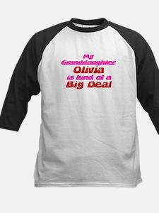 Granddaughter Olivia - Big De Kids Baseball Jersey