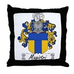 Magistri Family Crest Throw Pillow