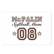 McPalin Softball Mom Postcards (Package of 8)