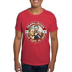 Obama-Biden Lincoln Red Rim T-Shirt