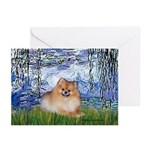 Lilies #6/Pomeranian #4 Greeting Cards (Pk of 10)