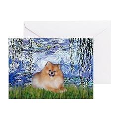 Lilies #6/Pomeranian #4 Greeting Cards (Pk of 10)