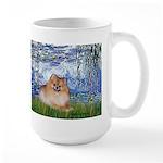 Lilies #6/Pomeranian #4 Large Mug