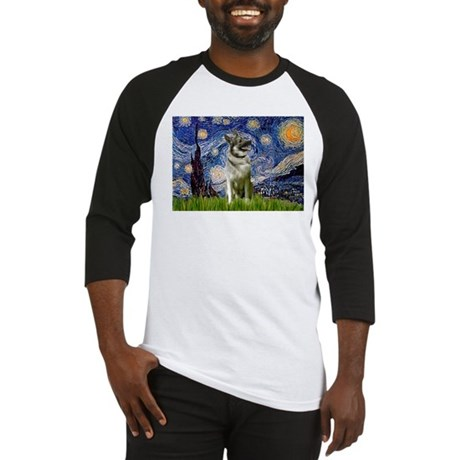 Starry Night Elkhound Baseball Jersey