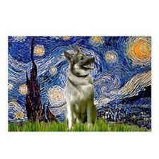 Starry Night Elkhound Postcards (Package of 8)