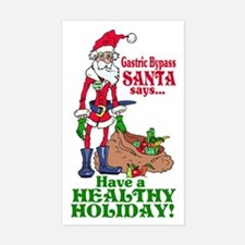 Gastric Bypass Santa Rectangle Decal