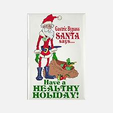 Gastric Bypass Santa Rectangle Magnet