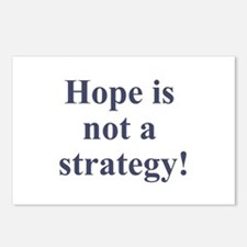 Hope is not a strategy Postcards (Package of 8)