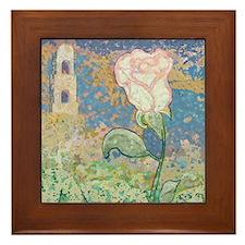 The White Rose Framed Tile