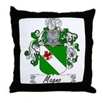 Magno Family Crest Throw Pillow